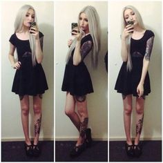 tatuajes y vestidos