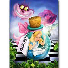 Full Square/Round drill DIY diamond Painting Cross Stitch Alice in Wonderland Diamond Embroidery Mosaic Rhinestone birthday Gift Alice In Wonderland Pictures, Alice In Wonderland Drawings, Cross Paintings, Easy Paintings, Pinturas Disney, Home Decoracion, Carousel Designs, Disney Cartoons, Funny Disney