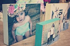 I've been making photo blocks like crazy lately, they have a similar look to canvas, but they're made with blocks of wood, a photo (mus...
