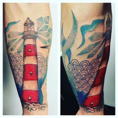 Tatouage phare eau dotwork by merries Melody tattooshop 66 http://merriesmelody.com