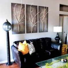 DIY Stick Wall Art
