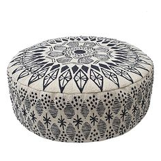 Pouf Cover,Floor Cushion Cover,Indigo ,Ottoman,18 x 18 x 5 inches ...