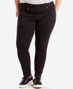 Levi's® Plus Size Pull-On Jeggings $36.99 Enjoy a skinny jeans fit and leggings comfort with these plus size jeggings from Levi's®. The dark wash gives you a classic look.