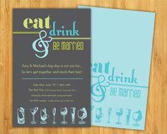 DIY Stock the Bar Invitation by theCreativePeanut on Etsy, $10.00