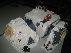 Flickr Lego Christmas Village, Lego Winter Village, Gingerbread Christmas Decor, Christmas Scenery, Christmas Villages, Christmas Ideas, Lego City Train, Lego Trains, Lego Mountain