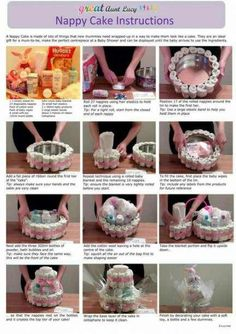 Super baby shower gifts hamper cake tutorial 62 ideas The Effective Pictures We Offer You About Baby Shower Gift Basket, Baby Shower Diapers, Baby Boy Shower, Baby Shower Presents, Baby Shower Nappy Cake, Baby Presents, Shower Cake, New Baby Gifts, Bricolage Baby Shower