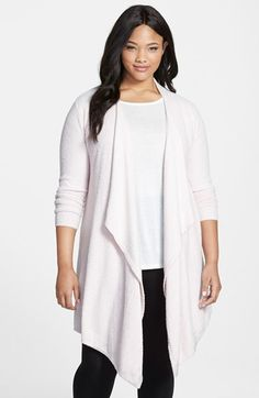 Barefoot Dreams® Drape Front Cardigan (Plus Size) (Nordstrom Exclusive) | Nordstrom