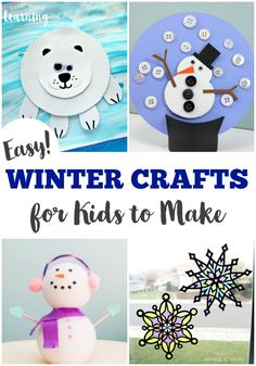 These fun and easy kid crafts for winter are a perfect way to spend a cold winter's day!