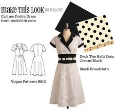 (via MTL: Call Me Dottie Dress - The Sew Weekly Sewing Blog & Vintage Fashion Community)
