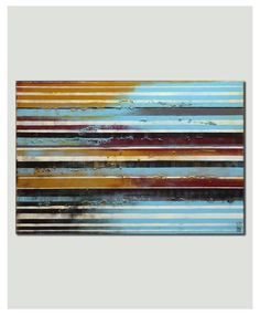 Painting, Abstract Art, Canvas Wall art Long striped distance 116, On canvas, Original Art, Landscape Art, Abstract Painting, large artwork door RonaldHunter op Etsy https://www.etsy.com/nl/listing/187671650/painting-abstract-art-canvas-wall-art