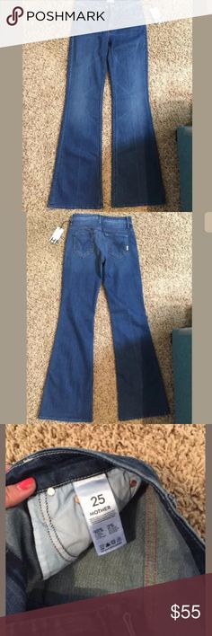 NWT Mother Denim Medium wash Flares - TALL NWT Mother Denim Medium wash Flares - TALL. Very comfortable jeans! MOTHER Jeans Flare & Wide Leg