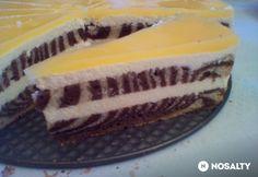 Fantás-túrós zebratorta Ham, Cheesecake, Banana, Sweets, Fruit, Food, Sweet Ideas, Cakes, Drink