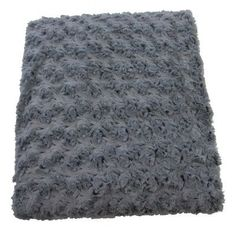 House of Hampton Sleaford Rose Petal Fur Throw Color: Frost