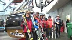 Steamboat christens the start of gondola operations today with the launch of the Golden Gondola Cabin, appropriately numbered 50, featuring a very distinguished group of riders for its first trip up the mountain during the Anniversary Season