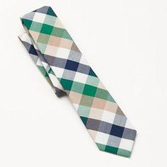 Croft & Barrow Cotton Buffalo Check Tie - Men