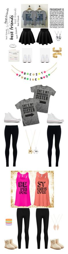 """""""Best friend outfits"""" by gracelovespigs on Polyvore featuring Converse, Bling Jewelry, Alisa Michelle, Eternally Haute, Accessorize, NIKE, Monsoon, Donna Karan and UGG Australia"""