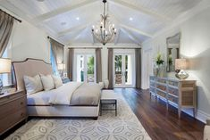 """Florida Home with Elegant Coastal Interiors - """"Master Bedroom"""" Transitional Bedroom, Transitional House, Home Staging, Caracole Furniture, Design Your Bedroom, Bedroom Designs, Master Bedroom, Bedroom Decor, Dream Bedroom"""