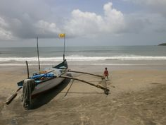 Palolem beach in south Goa, India