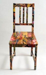 decopaged chair