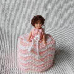 Your place to buy and sell all things handmade Shabby Chic Toilet, Vintage Ladies, Retro Vintage, Pink And White Dress, Sweet Lady, 1960s, Nostalgia, Childhood, Dolls