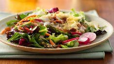 Salade en sept couches aux asperges et au fenouil