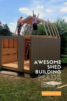 Free building guides, cheap shed plans, and email support to help you build your own awesome shed.