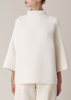 The Row Agrena Top (Off White) Estilo Jackie Kennedy, Looks Style, My Style, Fashion Looks, Fashion Tips, Fashion Design, Fashion Fashion, Mode Top, Mode Outfits
