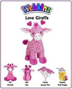 Webkinz Love Giraffe