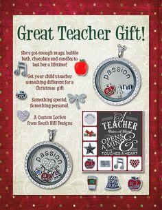 For your teacher www.southhilldesigns.com/trinaslocketsoflove