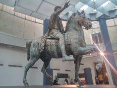 Statue of Marcus Aurelius in the Musei Capitolini.