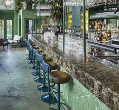 the bar at le bar botanique of amsterdam. / sfgirlbybay