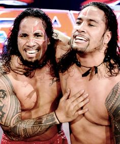 The Usos...watched wrestling with my dad, luckily had something nice to look at on the screen...sexy!!