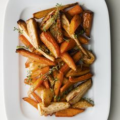 Roasted Parsnips and Carrots in Caramel