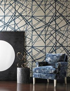 Beautiful wallcovering and fabric from Kelly Wearstler collection for Kravet