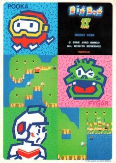 Dig Dug II (Namco, 1986) - Desk Pad #arcade #retrogames