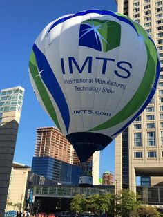 There it goes! The new #IMTS2016 hot air balloon! #IMTS
