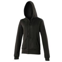 Zip-up Hoody Sports Jacket, Black