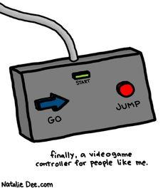 Comic by Natalie Dee: for people who just wanna go and jump