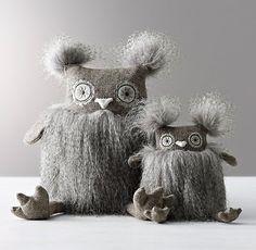 Wooly Plush Owl Pinned by www.myowlbarn.com