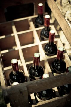 crate of wine bottles - I really like this photo for some reason...