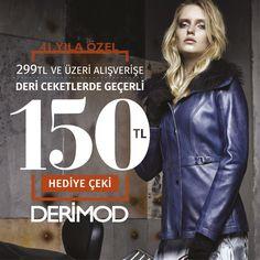 Marmara Park Derimod'dan yapacağınız 299 TL ve üzeri ayakkabı – çanta alışverişleri, deri ceketlerde kullanılmak üzere geçerli 150 TL hediye çeki kazandırıyor.