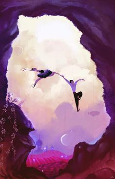 So inspiring and beautiful... to jump over the moon.   ELIOLI Art