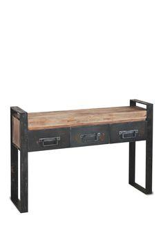 Metal & Wood Table