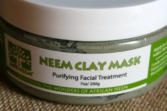 We love superfoods for our bodies! Try this super herb for your SKIN! @JustNeem Body & Skin Care Clay Mask.