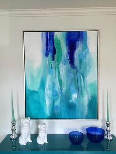 Blue Dawn 100x120 cm. Akryl på lerret  Vibeke Lillefjære. Norway.