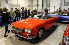#Lancia #Flavia #Cabriolet au salon Auto e Moto d'Epoca de Padoue Reportage :  http://newsdanciennes.com/2015/10/27/grand-format-auto-e-moto-depoca-a-padoue/ #ClassicCar #Vintage #Voiture #Ancienne