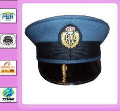 19941195d7c MILITARY PEAK CAP ROYAL AIR FORCE PEAKED CAP WITH GOLD BADGE