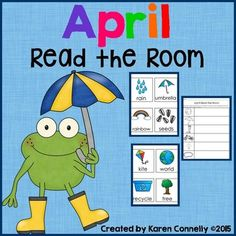This is a read the room activity with an April theme!