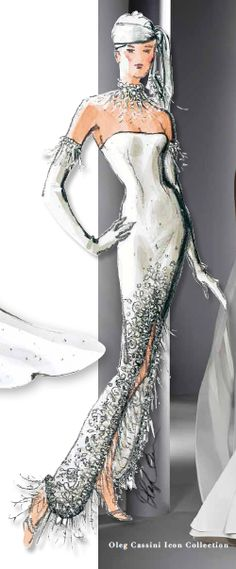 Oleg Cassini ~ mermaid gown design.