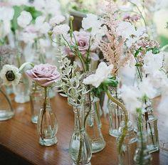 Single flowers in vases :)